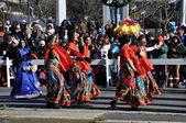 India section of the 20th annual UBS Thanksgiving Parade Spectacular, in Stamford, Connecticut — Stockfoto