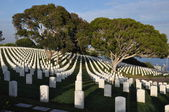 United States Military Cemetery in San Diego, California — Stock Photo