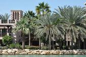Madinat jumeirah arabský rezort v Dubaji, Spojené arabské emiráty — Stock fotografie