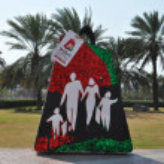 Постер, плакат: Dubai Shopping Festival DSF exhibits at Dubai Creek in Dubai UAE