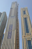 Skyscrapers on Sheikh Zayed Road in Dubai — Stock Photo