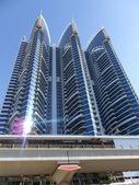 Gratte-ciel sur sheikh zayed road, Dubaï — Photo