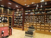 Wine store at Dubai Duty Free at the International Airport — Stock Photo