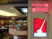 Red Mango frozen yogurt at Dubai Mall in the UAE — Stock Photo