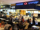 Food court at Dubai Mall in the UAE — Stock Photo