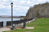 Pardee Seawall Park in New Haven, Connecticut — Stock Photo