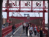 Williamsburg Bridge in New York City — Stock Photo