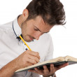 Man making annotations — Stock Photo #13185735