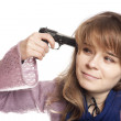 Woman with gun — Stock Photo #17821969