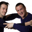 Stock Photo: Two male friends