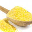 Stock Photo: Corn flour spoon
