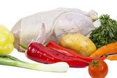 Syrové kuře se zeleninou — Stock fotografie