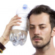 Man holding a bottle of water — Stock Photo #50370971