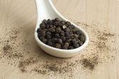 Черная горошина перца — Стоковое фото