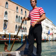 venetian gondolier — Stock Photo