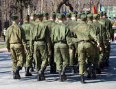 Soldiers on the war parade — Stock Photo