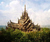 Temple of truth in Pattaya — Stock Photo