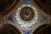 Famous art on the cupola of St. Isaak catedral — Stock Photo