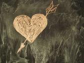 Coeur sur le classboard — Photo