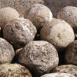 Old cannon-balls — Stock Photo