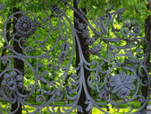 Part of Mikhailovsky (Michael) garden fence — Stock Photo