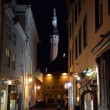 Night view of Tallinn city — Stock Photo