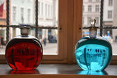 Two alchemical bottles — Foto Stock