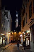 Night view of Tallinn city — Foto de Stock