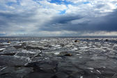 Frozen sea shore — Stok fotoğraf