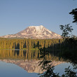 Stock Photo: Mt. Adams and Lake