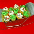 Stock Photo: Cupcakes in Santa's Sleigh