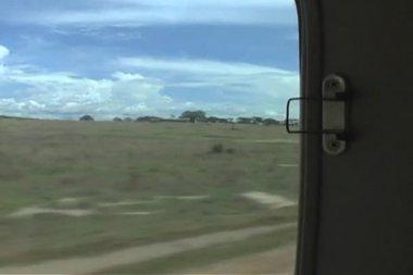 Taking off in bush plane in Africa — Stock Video