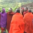 图库视频影像: Masai Tribe Warrior Dance