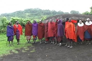 马赛部落战士舞蹈 — 图库视频影像