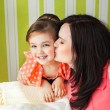 Mother kissing her daughter — Stock Photo #24861399