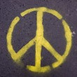 Foto Stock: Peace sign