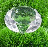 Diamond and grass — Stock Photo
