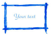 Blue picture frame — Stock Photo