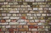 Oude bakstenen muur — Stockfoto