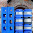 Crates and barrels — Stock Photo
