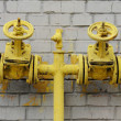 Two yellow valve  — Stock Photo