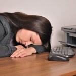 Woman asleep — Stock Photo