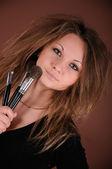 Makeup artist — Stock Photo