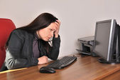 Distraught woman — Stock Photo