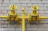 Two yellow valve — Stock Photo