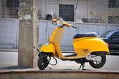 Yellow moped — Stock Photo