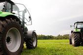 Two tractors — Stock Photo
