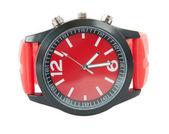 Reloj rojo — Foto de Stock