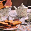 Crackers with tea  — Stock Photo