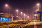 Station at night — Stock Photo